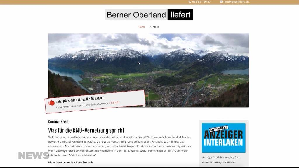 Berner Oberland liefert: Neue Plattform für KMUs