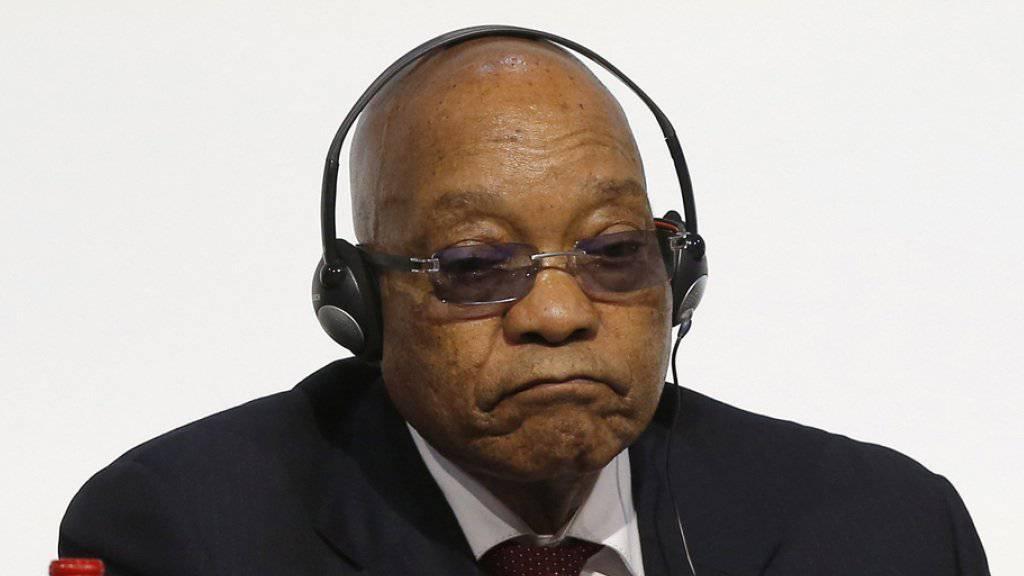Zustimmungswerte ausser Rand und Band: das Vertrauen in die Politik des südafrikanischen Präsidenten Jacob Zuma ist auf dem tiefsten Stand seit dem Ende der Apartheid. (Archiv)