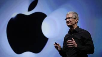 Apple-Chef Tim Cook verdiente über vier Millionen Dollar (Archiv)