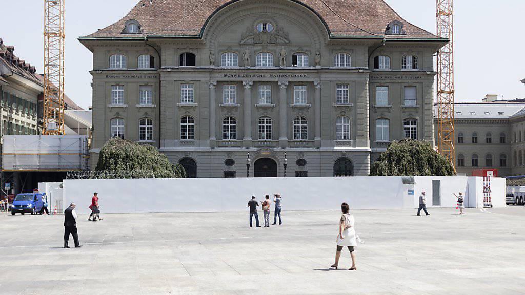 Der französische Ökonom Patrick Artus kritisiert die Aufhebung des Euro-Mindestkurses durch die Schweizerische Nationalbank (SNB): SNB-Gebäude am Bundesplatz in Bern.