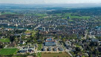 Solothurn top 5, Blick von Stadt Solothurn ins Mittelland.