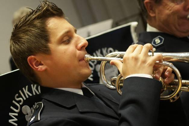 Trompeter Michi Krafft vom Musikkorps Heilsarmee Zürich-Nord
