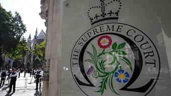 Das oberste britische Gericht muss entscheiden, ob Premier Boris Johnson mit der Zwangspause für das Parlament gegen das Gesetz verstossen hat.