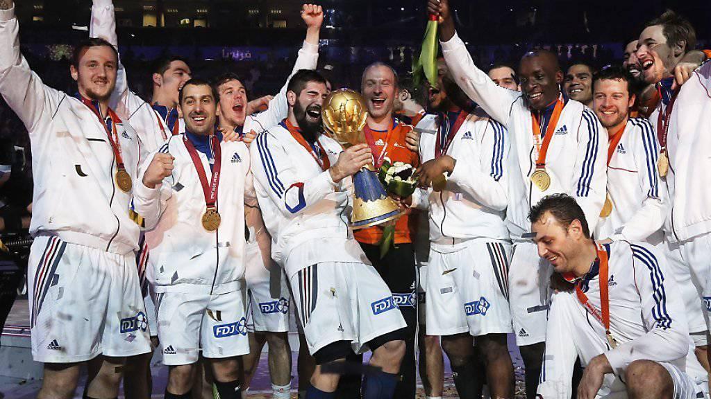 Wie vor einem Jahr bei der WM in Katar will Frankreich auch heuer an der EM in Polen über den Titelgewinn jubeln