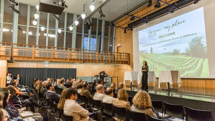 Impressionen der ersten Info- und Netzwerkveranstaltung «Aargau - My Place» für Expats.