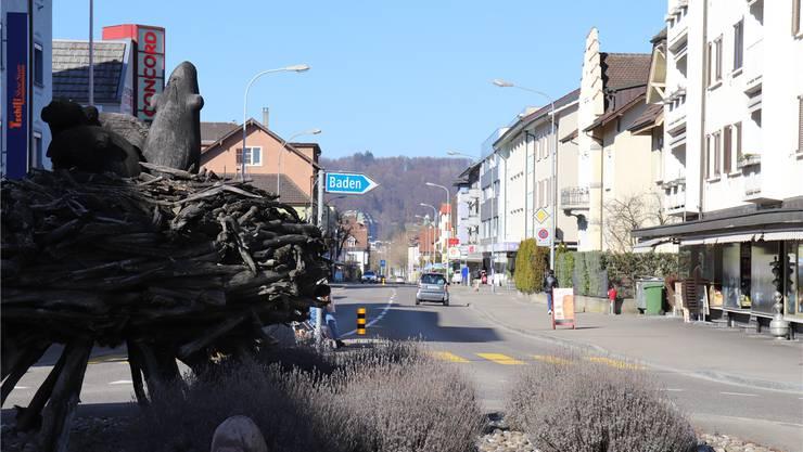 """""""Masterplan Landstrasse"""": In der nächsten Etappe wird die Strasse vom Rabenkreisel bis zur Grenze zu Baden saniert."""