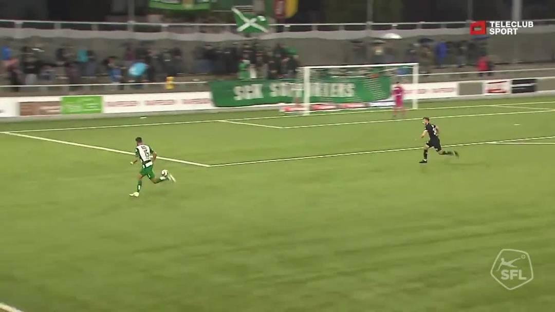 Challenge League 2019/20, 10. Runde: SC Kriens - FC Aarau, 90. Minute