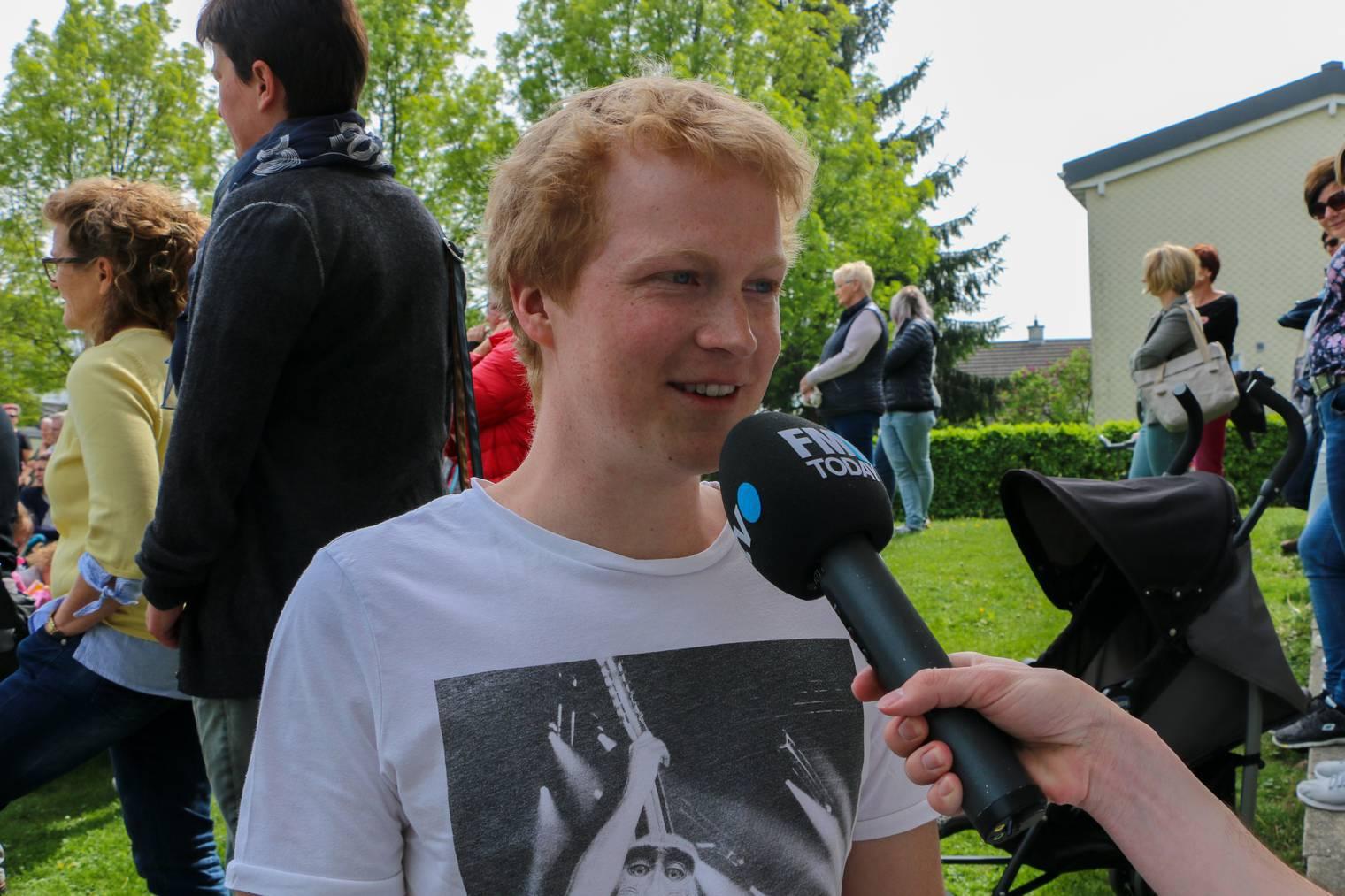 Liederschreiber Andreas Frei hat die Premiere genossen. (Bild: FM1Today/Nina Müller)