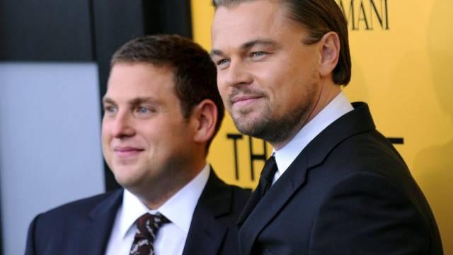 "Jonah Hill (l) und sein ""Leitwolf"" Leonardo DiCaprio (Archiv)"