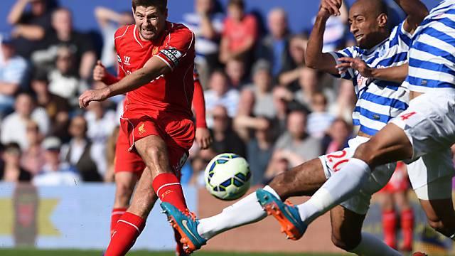 Glücklicher Last-Minute-Sieg für Liverpool (im Bild Steven Gerrard)