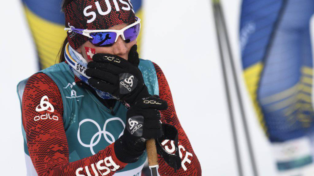 Starke Vorstellung im Olympia-Skiathlon: Nathalie von Siebenthal.