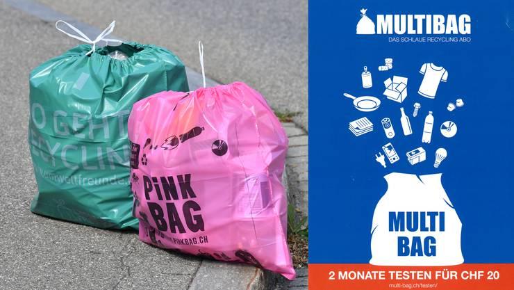 Heute heisst der Anbieter Multibag. Der Name hat sich geändert, das Prinzip blieb das gleiche.