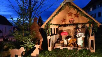 Die Weihnachtshäuschen stehen zum zweiten Mal in Wolfwil.