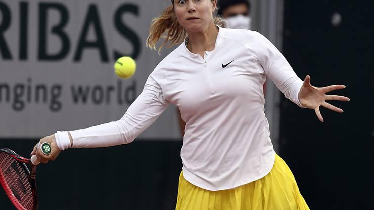 Stefanie Vögele tut sich auch am French Open schwer