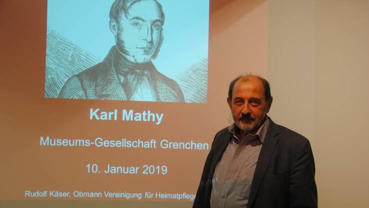 Vortrag von Rudolf Käser zum Grenchner Ehrenbürger Karl Mathy, der badischer Ministerpräsident wurde