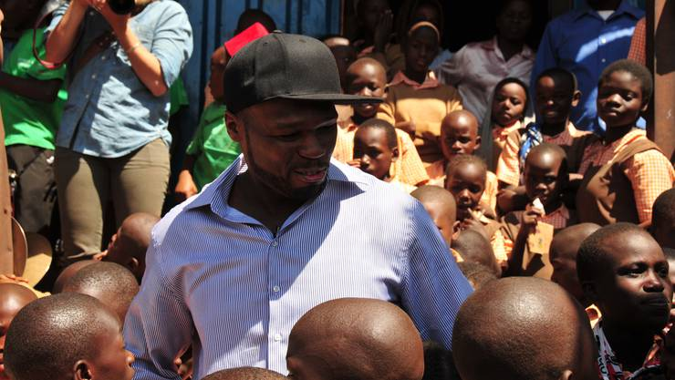 Der Rapper 50 Cent besuchte für das World Food Programme (WFP) Somalia