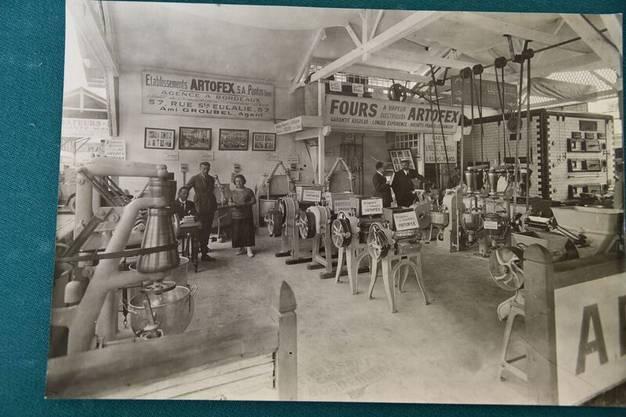 Aufnahme von einer der zahlreichen Messen, an denen die Maschinen ausgestellt wurden.
