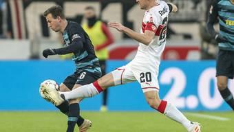 VfB-Captain Christian Gentner (Nummer 20) verliert seinen Vater unmittelbar nach dem Heimsieg gegen Hertha Berlin