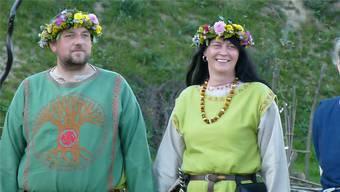 Andreas und Ela Rettig heirateten 2014 nach mittelalterlicher Tradition in einer slawischen Siedlungsanlage. ZVG