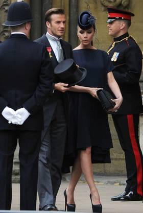 David und Victoria waren Ende April bei der Hochzeit von Kate und Prinz William eingeladen.