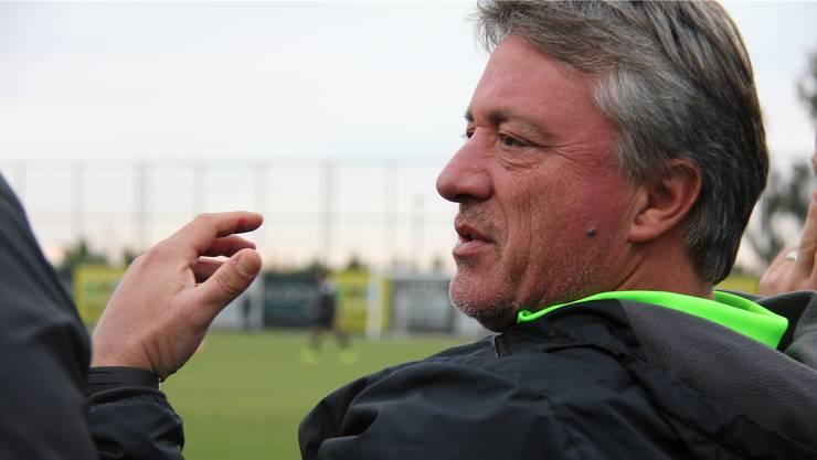 Trainer Marco Schällibaum während des Testspiels des FC Aarau gegen RNK Split im Trainingszentrum in Belek.DFS