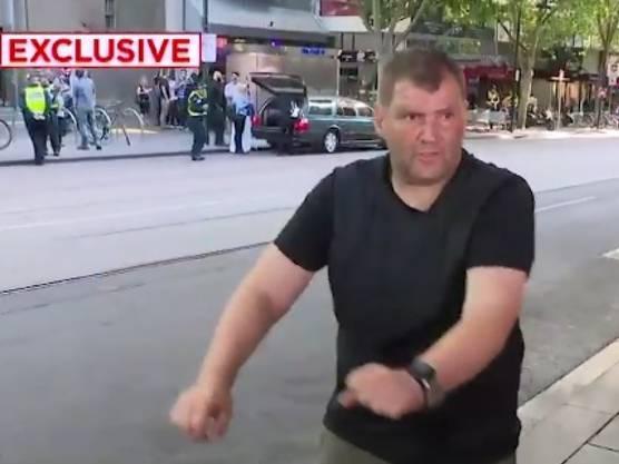 Stellte sich dem Angreifer in Melbourne mit einem Einkaufswagen entgegen: der 46-jährige Obdachlose Michael Rogers.