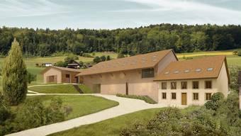 Von einem Pferdezentrum mit nationaler Ausstrahlung ist Freienwil noch weit entfernt. Visualisierung/Stoos Architekten