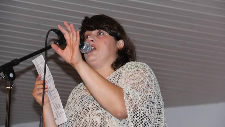 Patti Basler bei der Premiere am Freitagabend