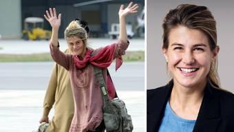 Vor bald sieben Jahren, am 15. März 2012, gelang Daniela Widmer die Flucht aus der Geiselhaft – hier winkt sie am Flughafen Islamabad in die Kameras. Heute ist sie Lokalpolitikerin.