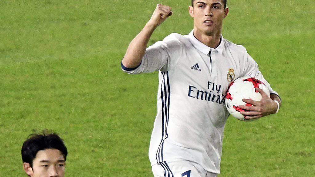 Cristiano Ronaldo war mit seinen drei Toren die zentrale Figur im Final der Klub-WM