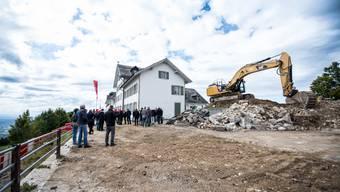 Der Startschuss zum Bau des Hotel Weissenberg ist gefallen