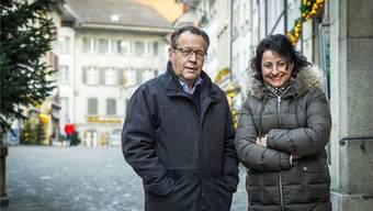 Dorothee Schwarz und Urs F. Meier: 2017 müssen die leeren Schaufensterflächen in der Rathausgasse verschwinden. Chris Iseli