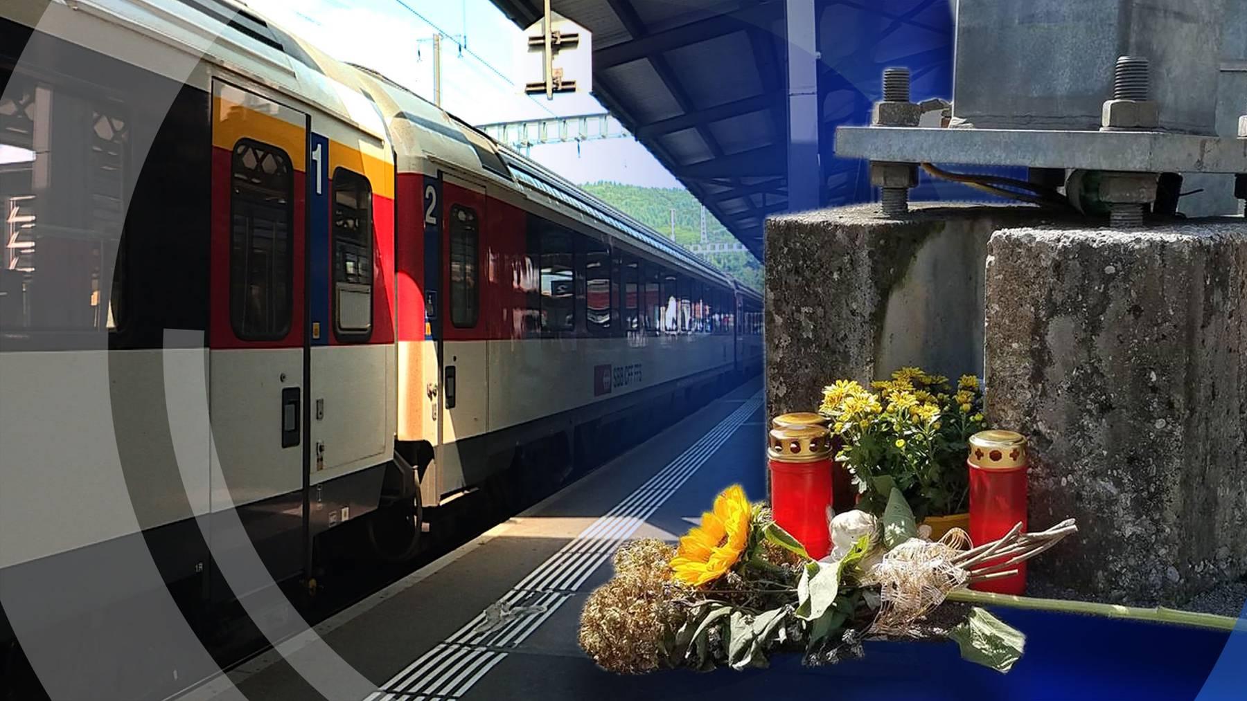 Baden: Zugbegleiter zwischen Türen eingeklemmt und verstorben