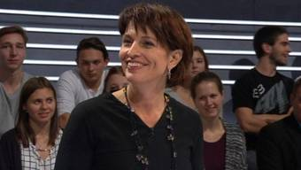 Siegerlächeln: Doris Leuthard hat gerade die SVP abgewatscht.