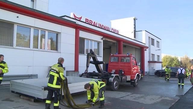 Brand bei Metzgerei Braunwalder