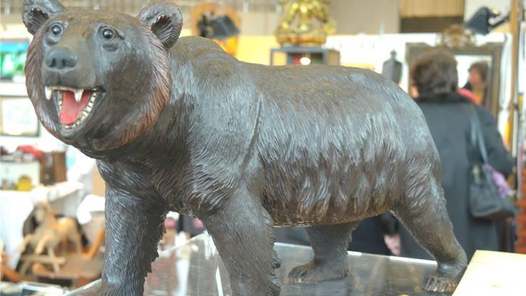 Prachtsexemplar: Dieser Brienzer Bär aus Holz zog viele Blicke auf sich. PKR