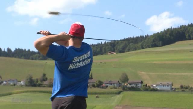 Eidgenössisches Hornusserfest in Walkringen ist gestartet
