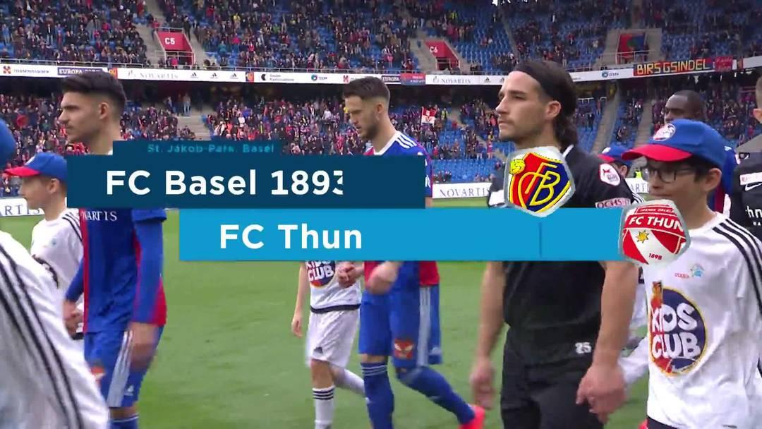 Super League, Saison 2018/19, Runde 23  FC Basel-FC Thun , Highlights