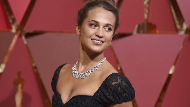 Wird am diesjährigen Zurich Film Festival über den Grünen Teppich schreiten: Die schwedische Schauspielerin Alicia Vikander. (Archivbild)