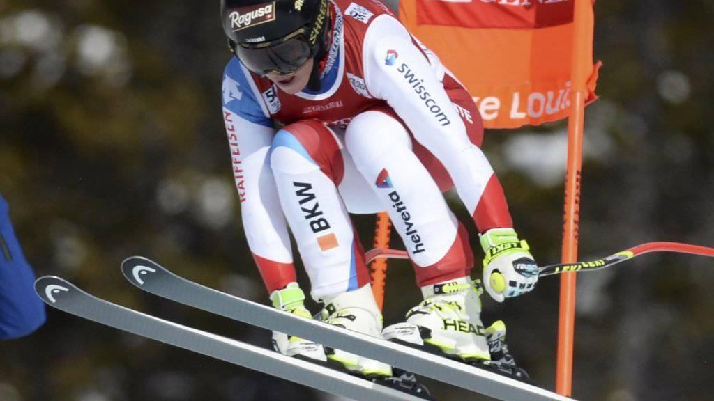 Im ersten Abfahrts-Training in Val d'Isère mit über einer Sekunde Vorsprung die Schnellste: Lara Gut