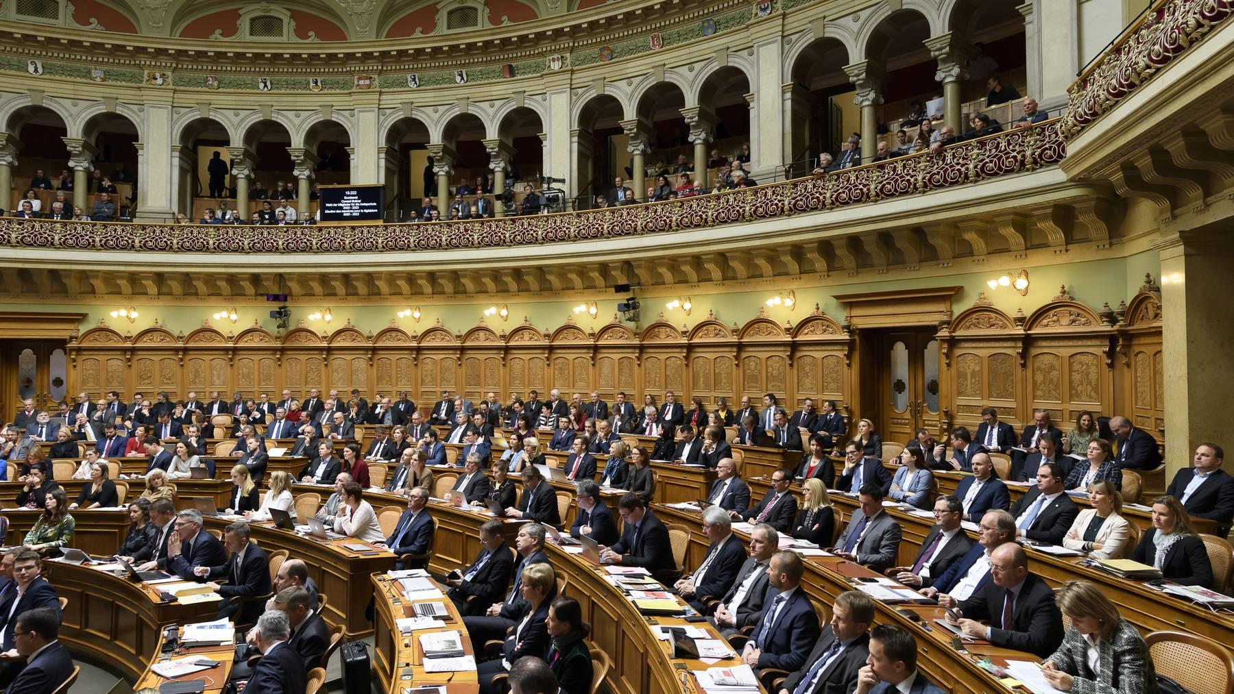 Wann die nächste Session im Bundeshaus stattfinden wird, ist unklar. Für die ausserordentliche Session tagen die Räte auf dem Messegelände der Bernexpo.