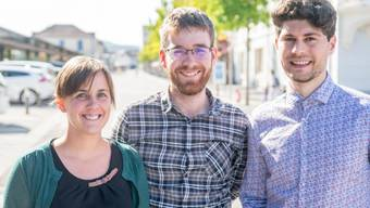 Tritt geschlossen zurück: Das Co-Präsidium der Jungen Grünen mit Maja Haus, Kevin Morisod und Luzian Franzini (von links).