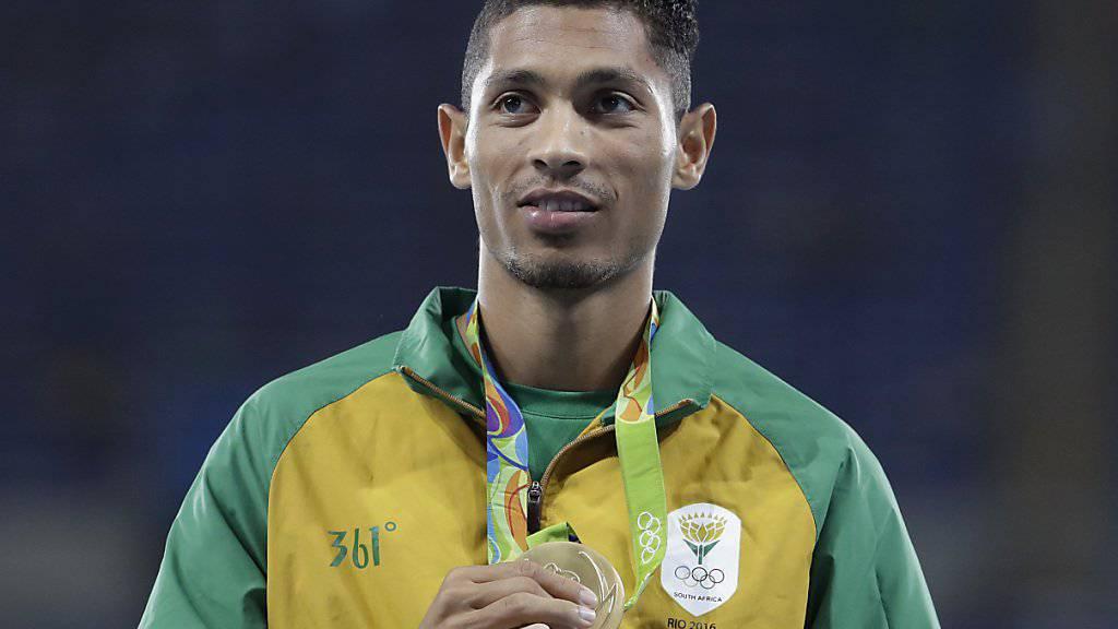 Der Südafrikaner Wayde van Niekerk gewann 2016 in Rio Olympia-Gold über 400 Meter