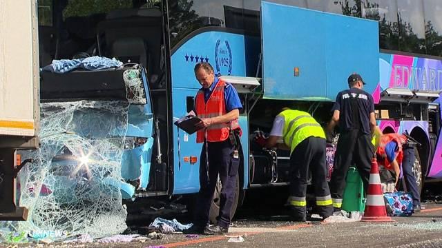 41 Verletzte bei Unfall auf A2