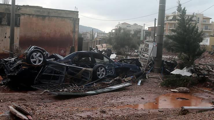 In Griechenland sind bei einem Unwetter mindestens 13 Menschen ums Leben gekommen.