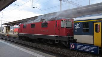 Im Maschinenraum dieser Lokomotive brach ein Brand aus.