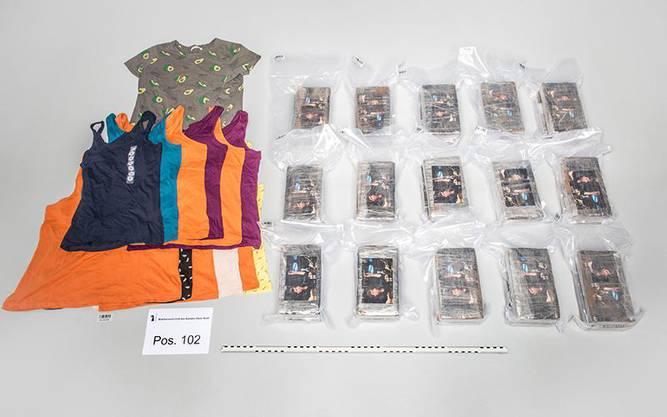 Bilder auf den Kokainpackungen zeigen Tony Montana, den Gangsterboss aus dem Kultfilm «Scarface».