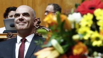 Alain Berset zum neuen Bundespräsidenten gewählt (Dezember 2017)