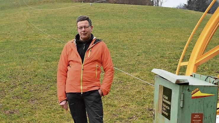 Ruedi Zingg, Präsident des Skiclubs Bottenwil.