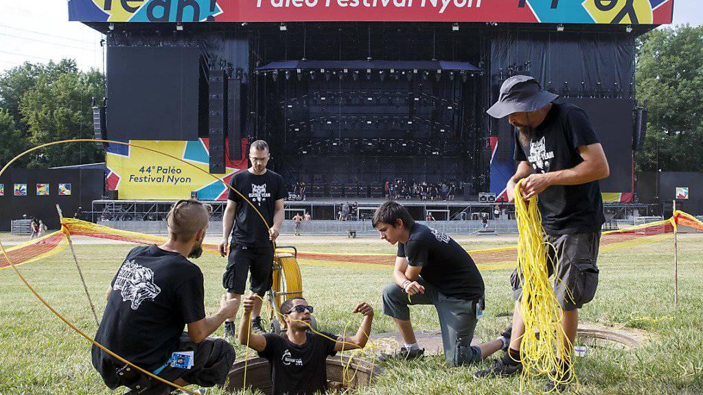 Paléo Festival in Nyon mit vielen frankophonen Zutaten